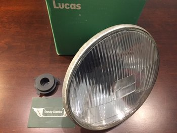 Headlight Lucas H4 LHD with pilot light